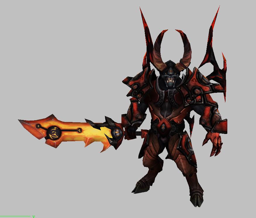 剑恶魔兽模型下载 魔兽争霸模型