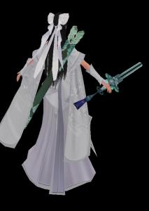 醉卧红尘-陆雪琪魔兽模型下载